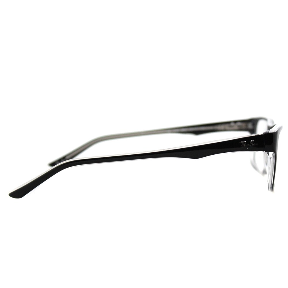 fbde9297441 Shop Ray-Ban Black on Crystal Plastic Rectangle Eyeglasses - Free Shipping  Today - Overstock - 12376105