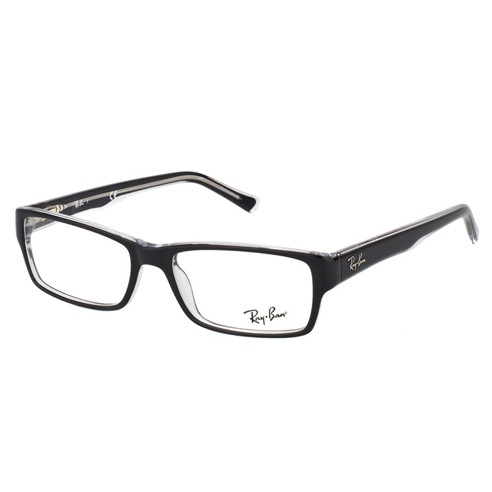 f3e764fe242ad Shop Ray-Ban Black on Crystal Plastic Rectangle Eyeglasses - Ships To  Canada - Overstock - 12376105