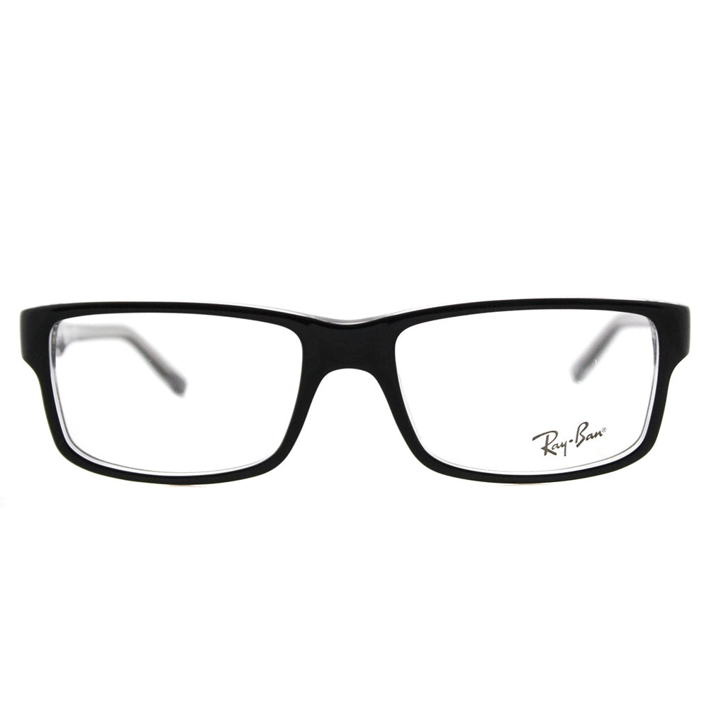 4fe7e7cb30 Shop Ray-Ban Black on Crystal Plastic Rectangle Eyeglasses - On Sale - Free  Shipping Today - Overstock - 12376105