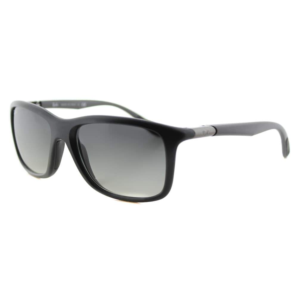 204d8affc97 Shop Ray-Ban RB 8352 622011 Matte Black Plastic Sport Sunglasses with Grey  Gradient Lenses - Free Shipping Today - Overstock - 12376126
