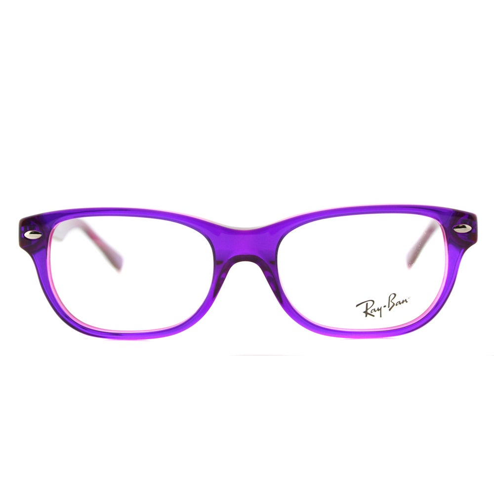 b64e9ed743 Shop Ray-Ban Violet On Fluorescent Fuxia Plastic Rectangle Eyeglasses -  Free Shipping Today - Overstock - 12376141