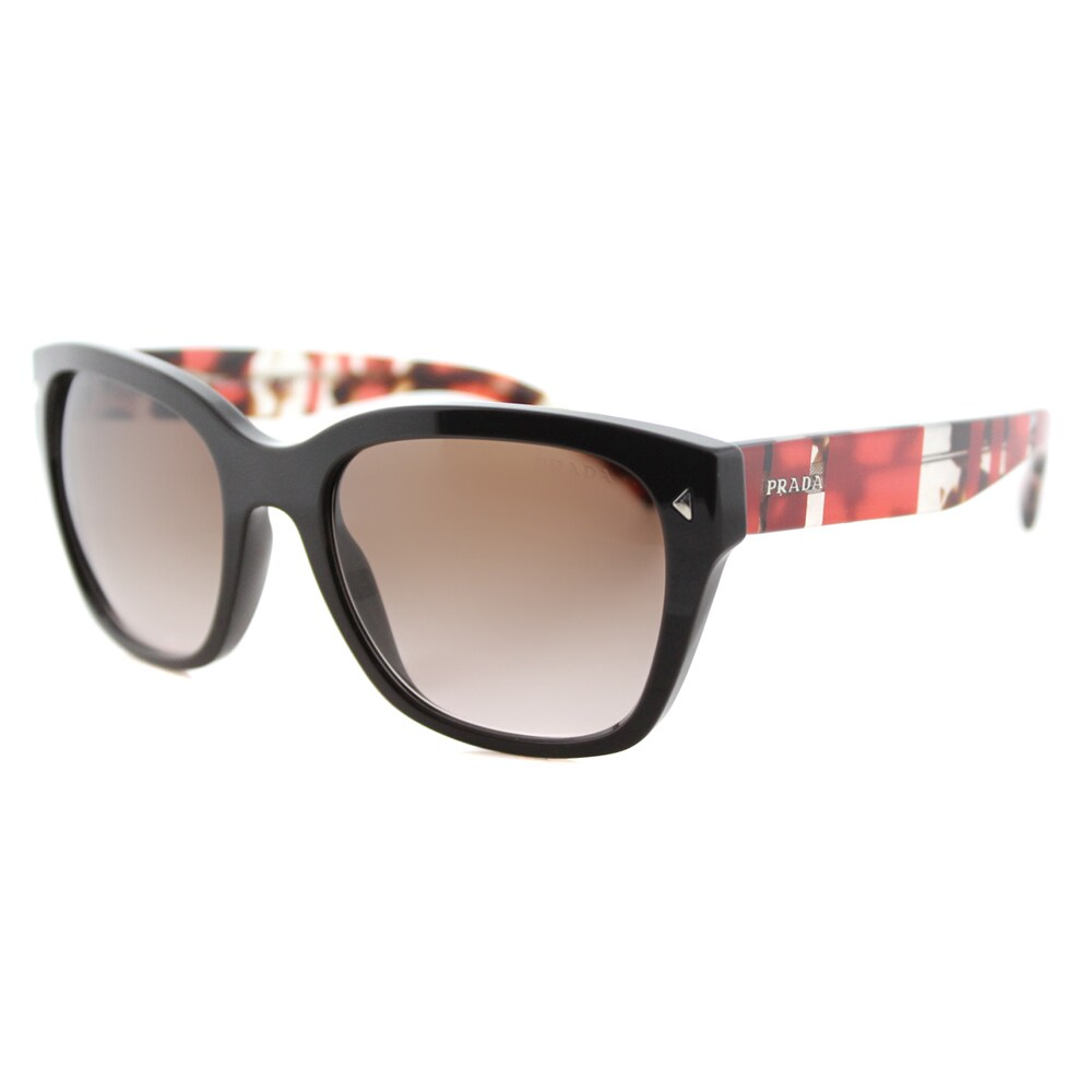ca5353d0bc84d Shop Prada PR 09SS DHO3D0 Brown Plastic Square Brown Gradient Lens  Sunglasses - Free Shipping Today - Overstock - 12376149