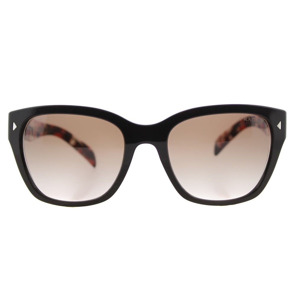 3af49075a609 ... where to buy shop prada pr 09ss dho3d0 brown plastic square brown  gradient lens sunglasses free