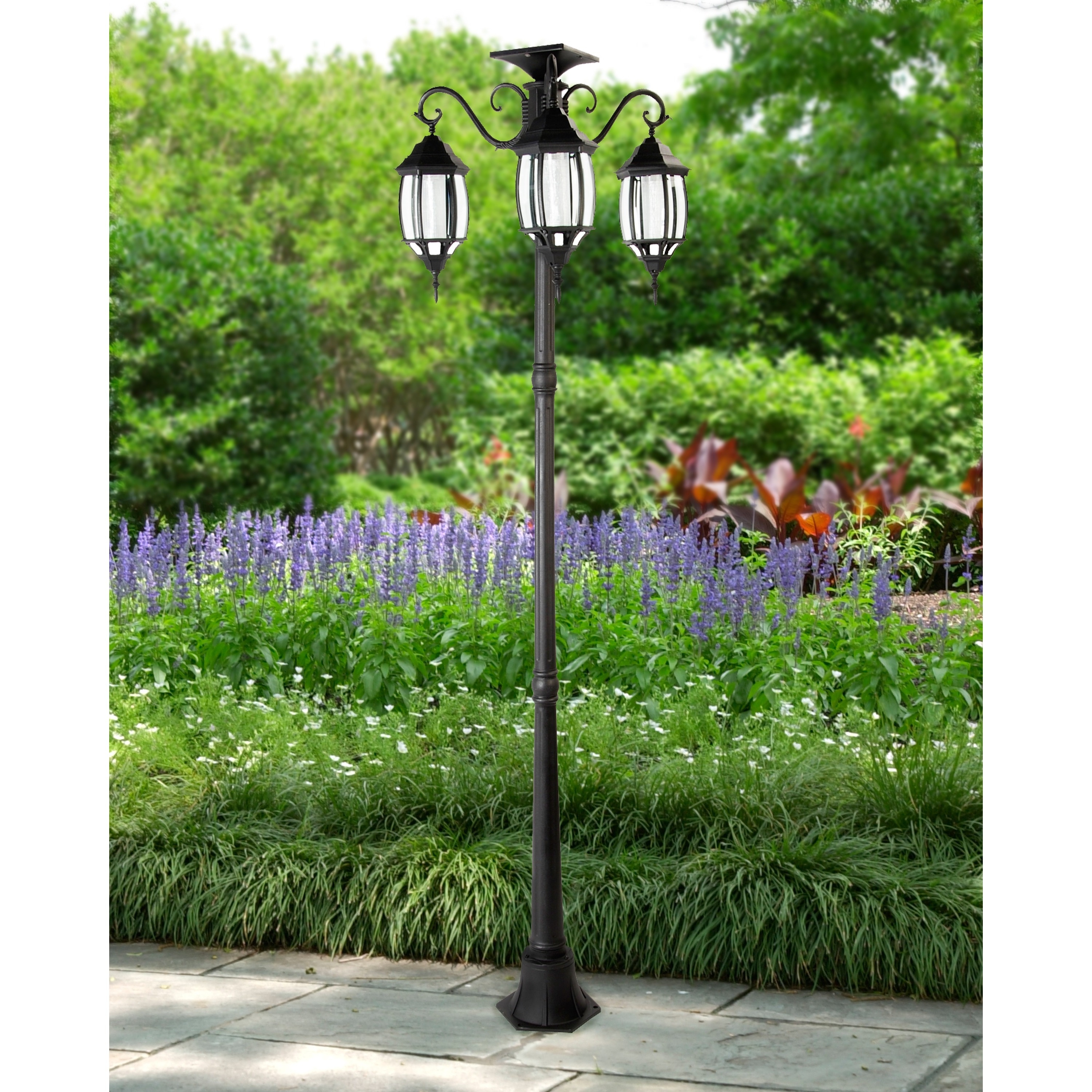 creativity light heads black base top outdoor lamp residential unbeatable posts lights post yard front
