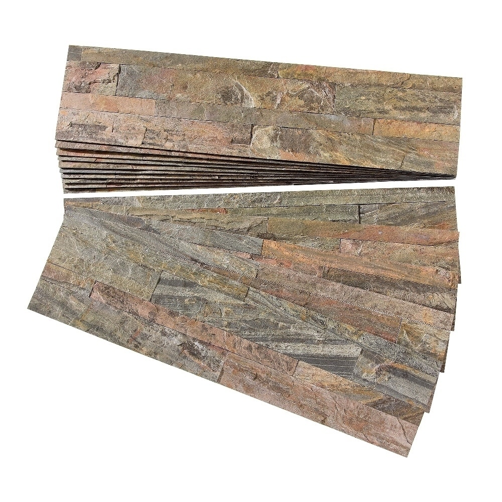 Aspect Weathered Quartz Peel and Stick Stone Backsplash 15 sq. ft. Kit -  Free Shipping Today - Overstock.com - 19200551