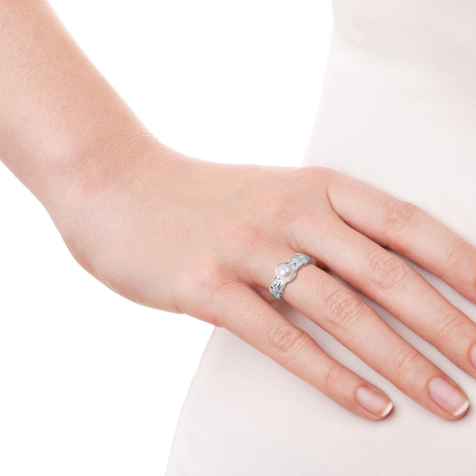 Shop Handmade Ocean\'s Treasure White Pearl Sterling Silver Ring ...