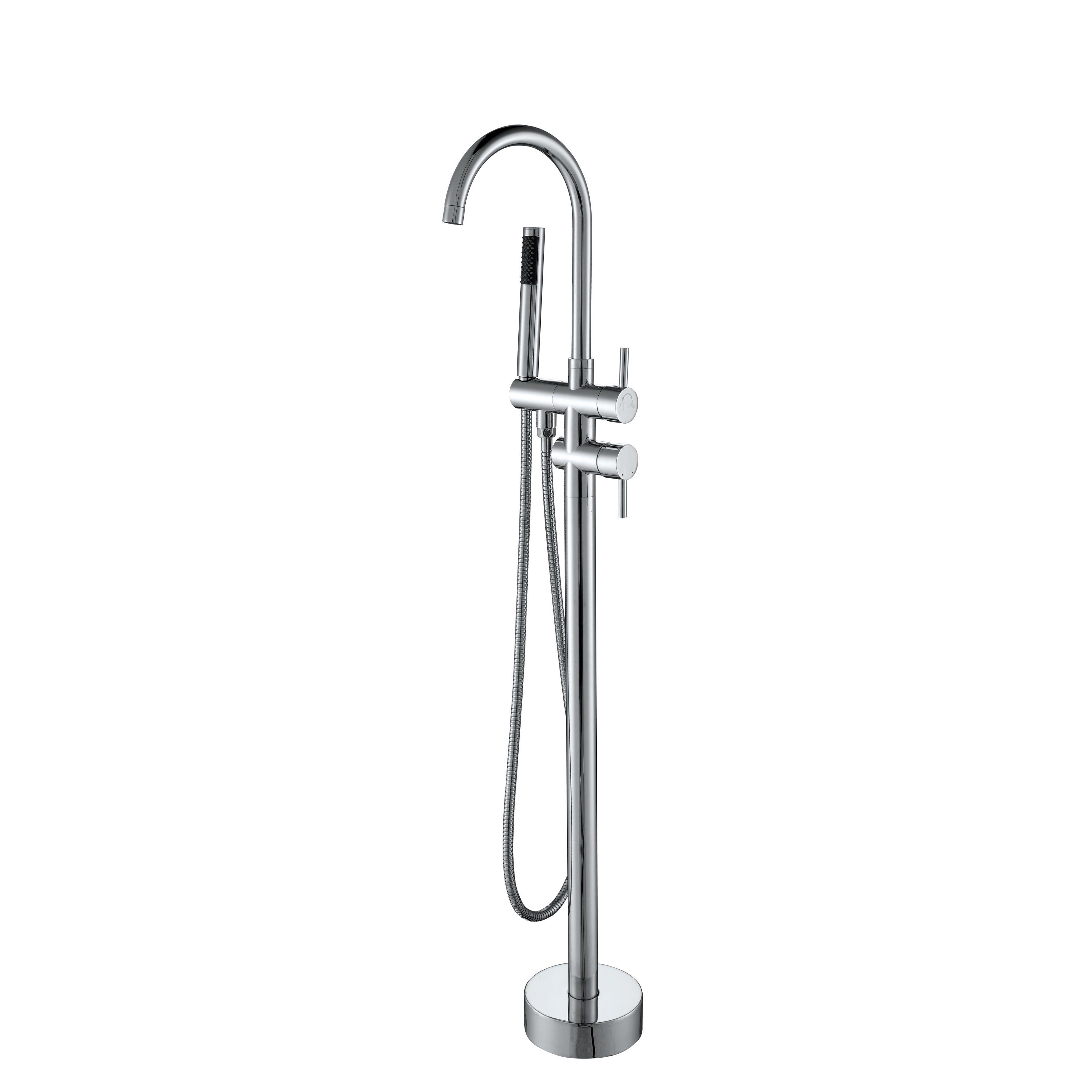 Shop Vanity Art Freestanding Bathtub Faucet - Chrome - Free Shipping ...