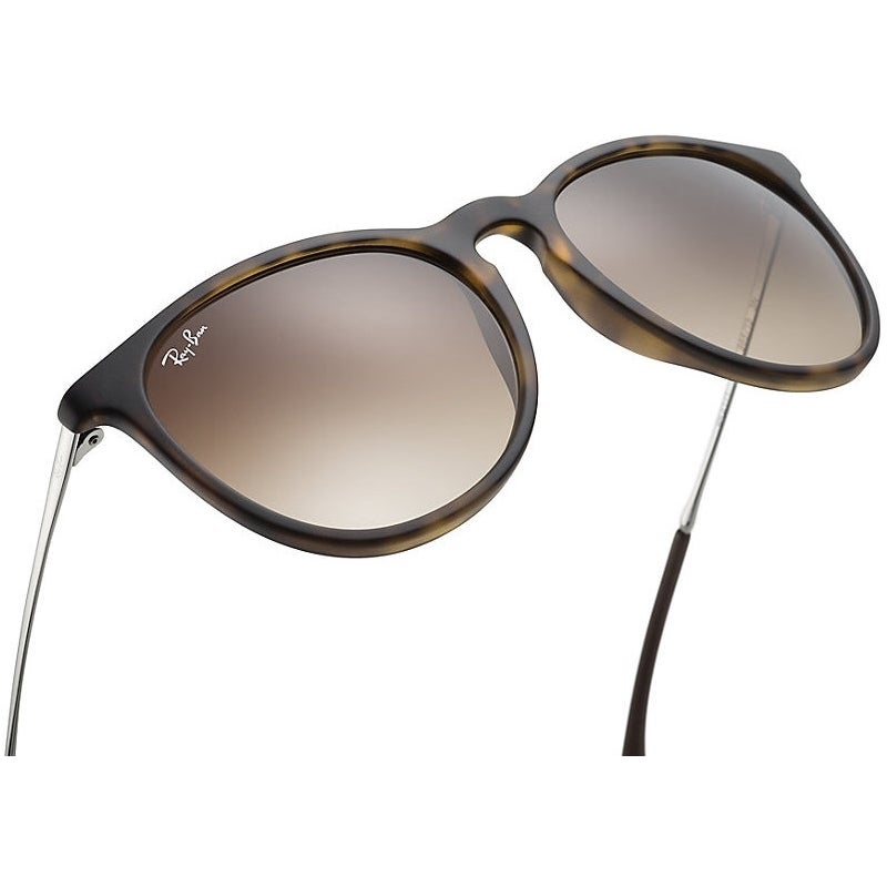 6f34a9948e9a0 Shop Ray-Ban Erika RB4171 865 13 Tortoise Gunmetal Frame Brown Gradient  54mm Lens Sunglasses - Free Shipping Today - Overstock - 12382212