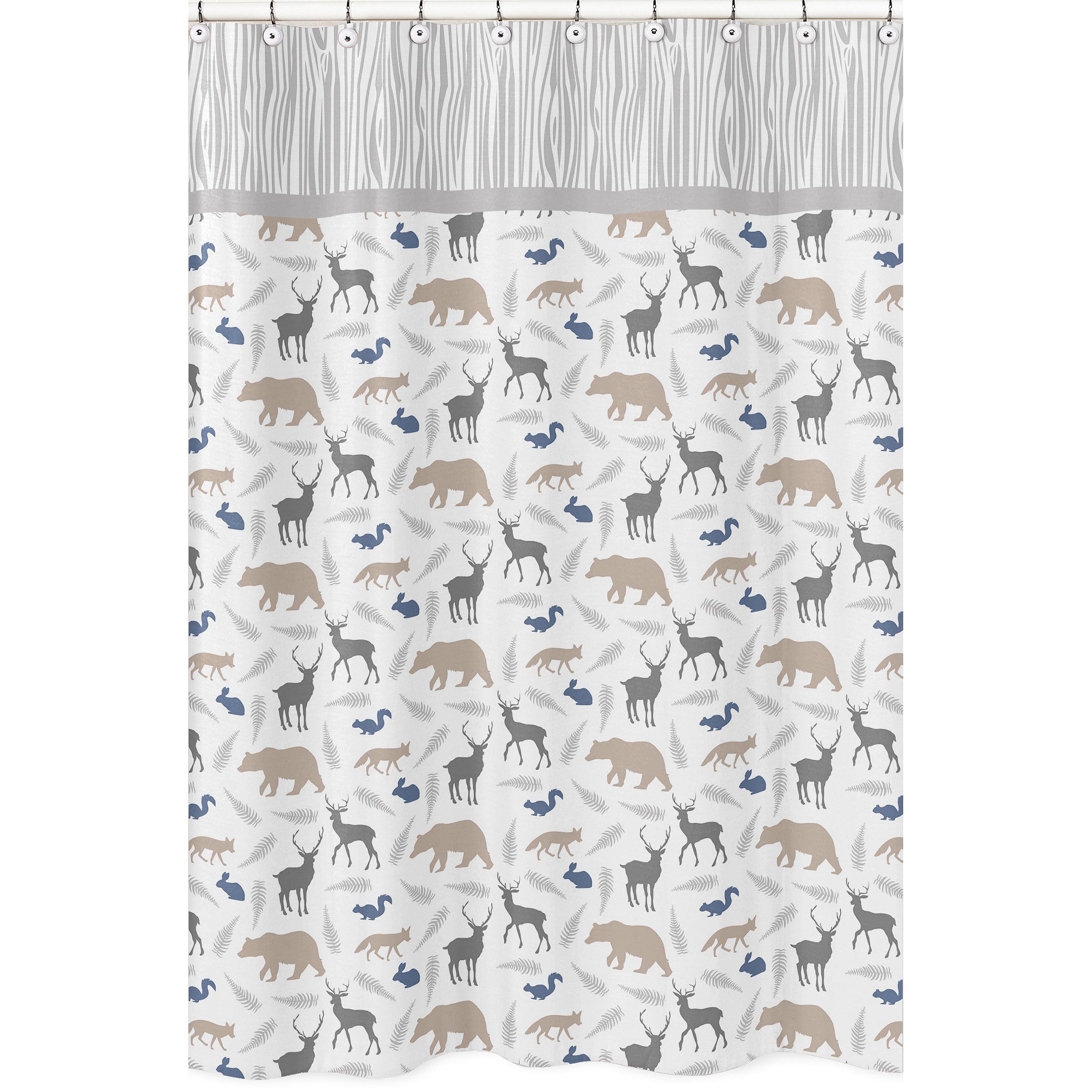 Shop Woodland Animals Shower Curtain