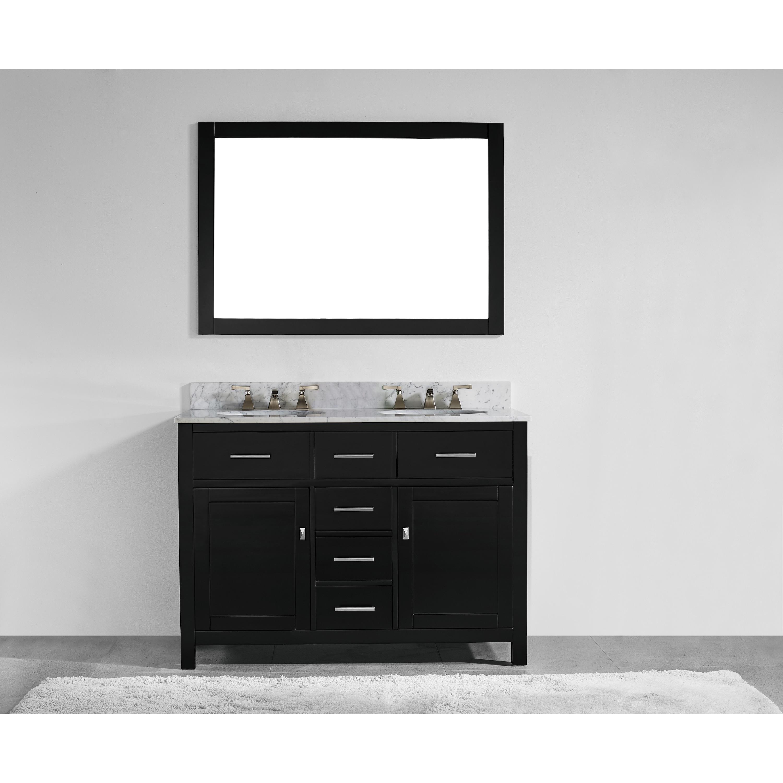Shop 48 Inch Espresso Finish Solid Wood Double Sink Bathroom Vanity
