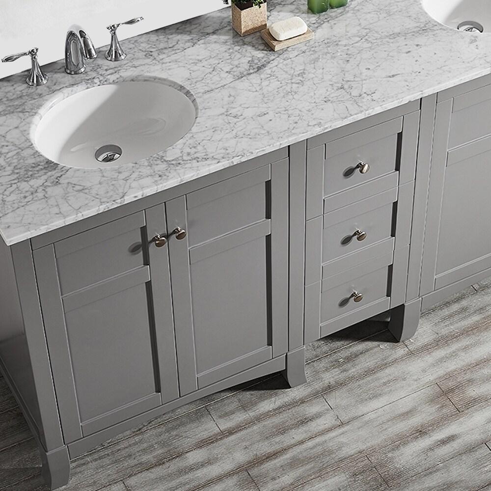 Arezzo 72-Inch Double Vanity in Grey with Carrara White Marble Top on 7x4 bathroom design, 11x8 bathroom design, mediterranean bathroom design, 6x4 bathroom design, 5x6 bathroom design, gothic bathroom design, 5 by 8 bathroom design, 2x2 bathroom design, 4x7 bathroom design, 3x8 bathroom design, 9x4 bathroom design, 10x12 bathroom design, 5x4 bathroom design, 4x8 bathroom design, 6x5 bathroom design, 6x12 bathroom design, 10x11 bathroom design, 5x7 bathroom design, 10x14 bathroom design, joanna gaines bathroom design,