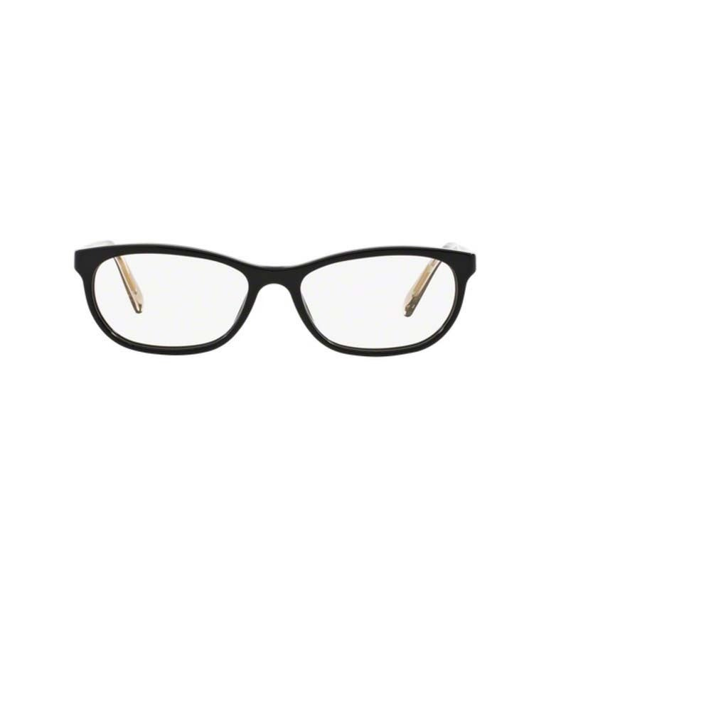 c22921439eb1 Shop Burberry BE2180 3507 Black Plastic Cat Eye Eyeglasses with 52mm Lens -  Free Shipping Today - Overstock - 12383039