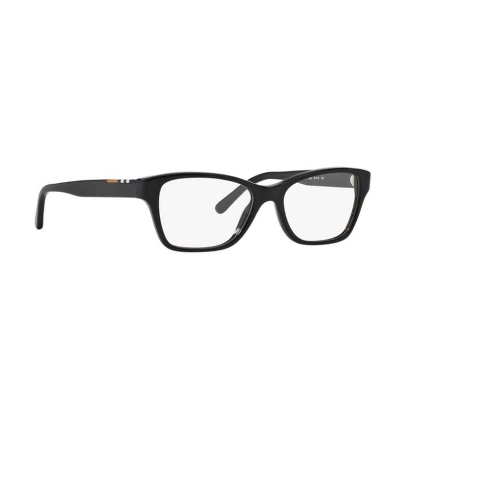 91c22726862f Shop Burberry BE2144 3001 Black Plastic Cat Eye Eyeglasses w  53mm Lens -  Ships To Canada - Overstock.ca - 12383075