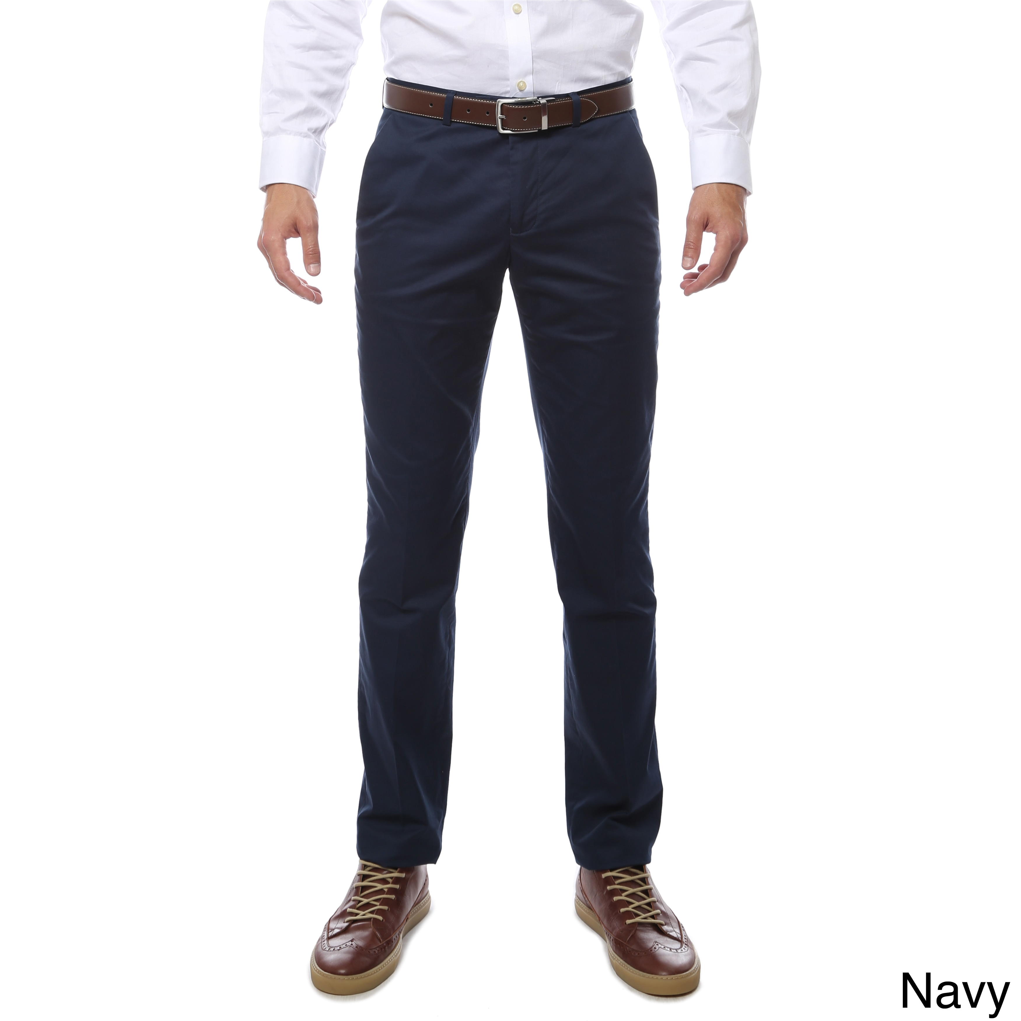 b0ccb5805ea Shop Zonettie by Ferrecci Cotton Spandex Straight-leg Business-casual Chino  Pants - Free Shipping On Orders Over  45 - Overstock - 12384834