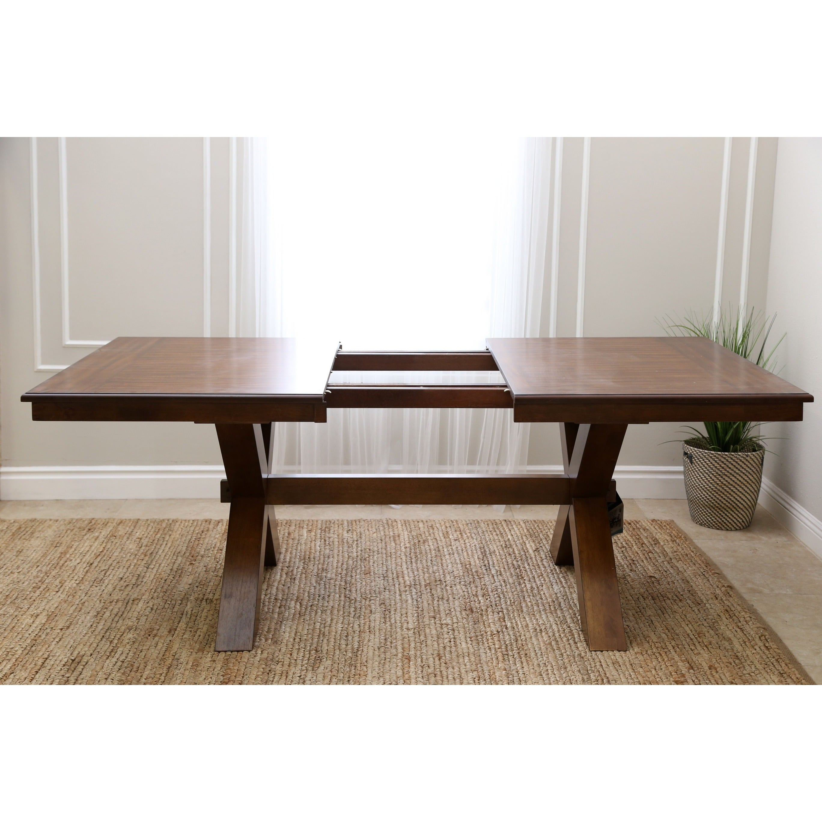 Beau Shop Abbyson Braxton Acacia Dining Table   Brown   On Sale   Free Shipping  Today   Overstock.com   12385019
