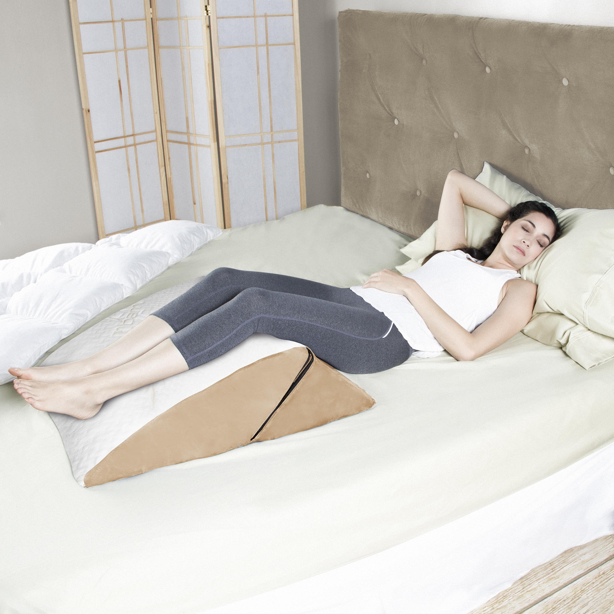 any position the in snuggle filled stomach contour wedge pillow flip with up multipurpose sleeping fiber lifestyle bed