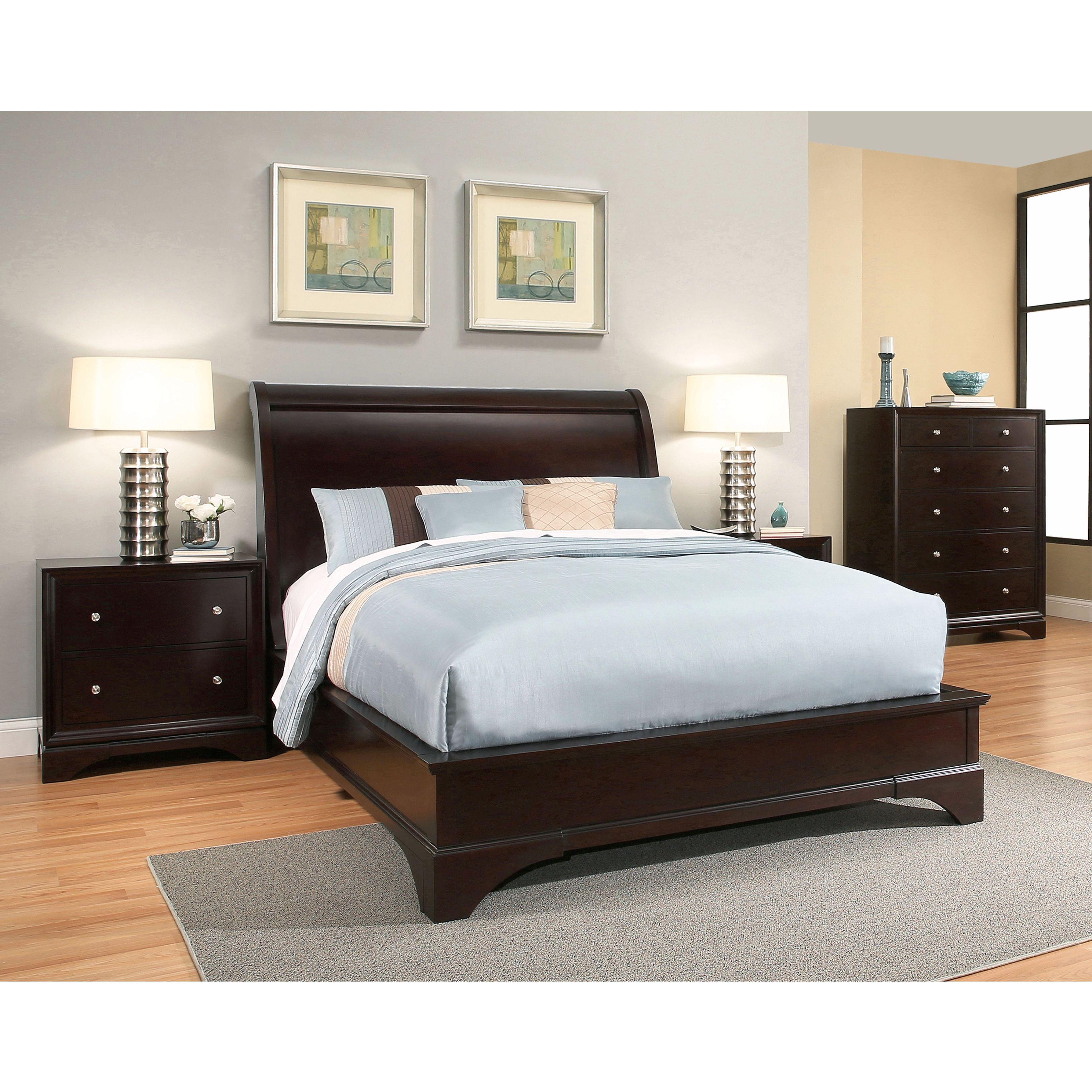 Abbyson Sydney 4-Piece Espresso Wood Bedroom Set - Free Shipping ...