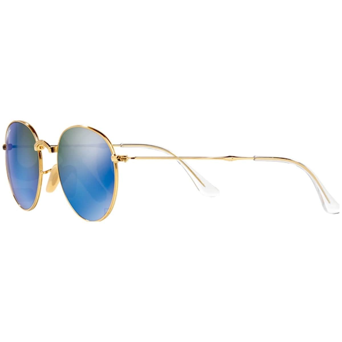 97108d57863 Shop Ray-Ban RB3532 001 68 Round Metal Folding Gold Frame Blue .