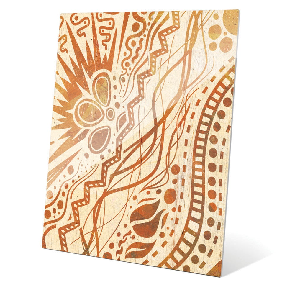 Doodle Burst\' Amber Glass Wall Art - Free Shipping Today - Overstock ...