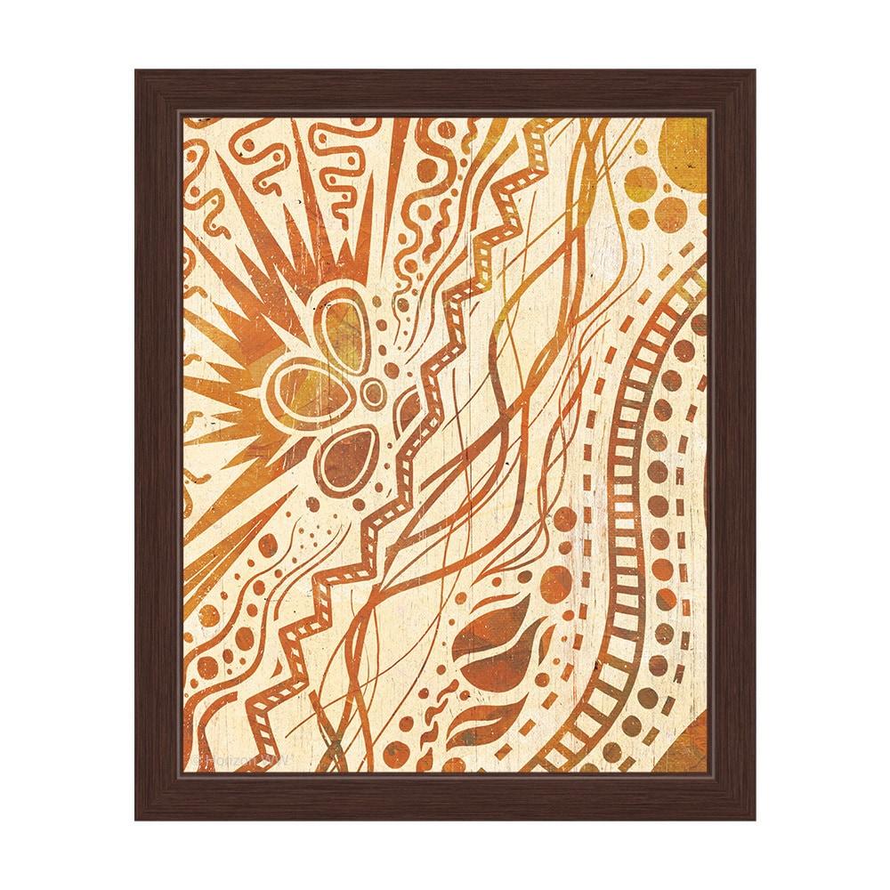 Shop \'Doodle Burst\' Amber-framed Canvas Wall Art - On Sale - Free ...