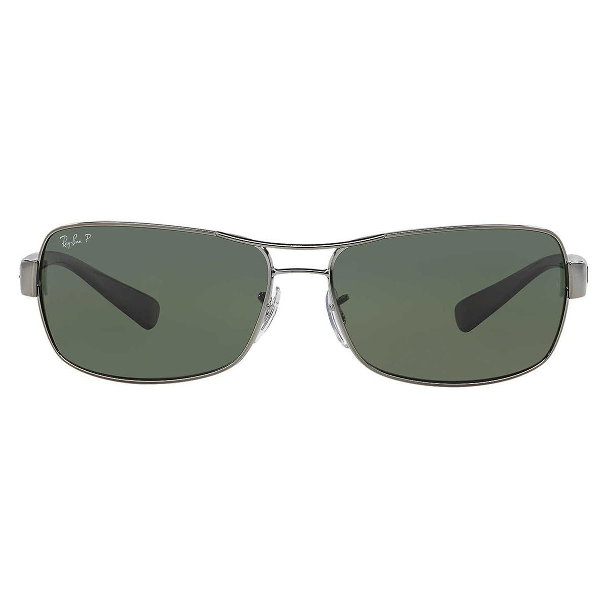 db639d0d9a Shop Ray-Ban Men s RB3379 004 58 Gunmetal Metal Rectangle Polarized  Sunglasses - Free Shipping Today - Overstock - 12389734