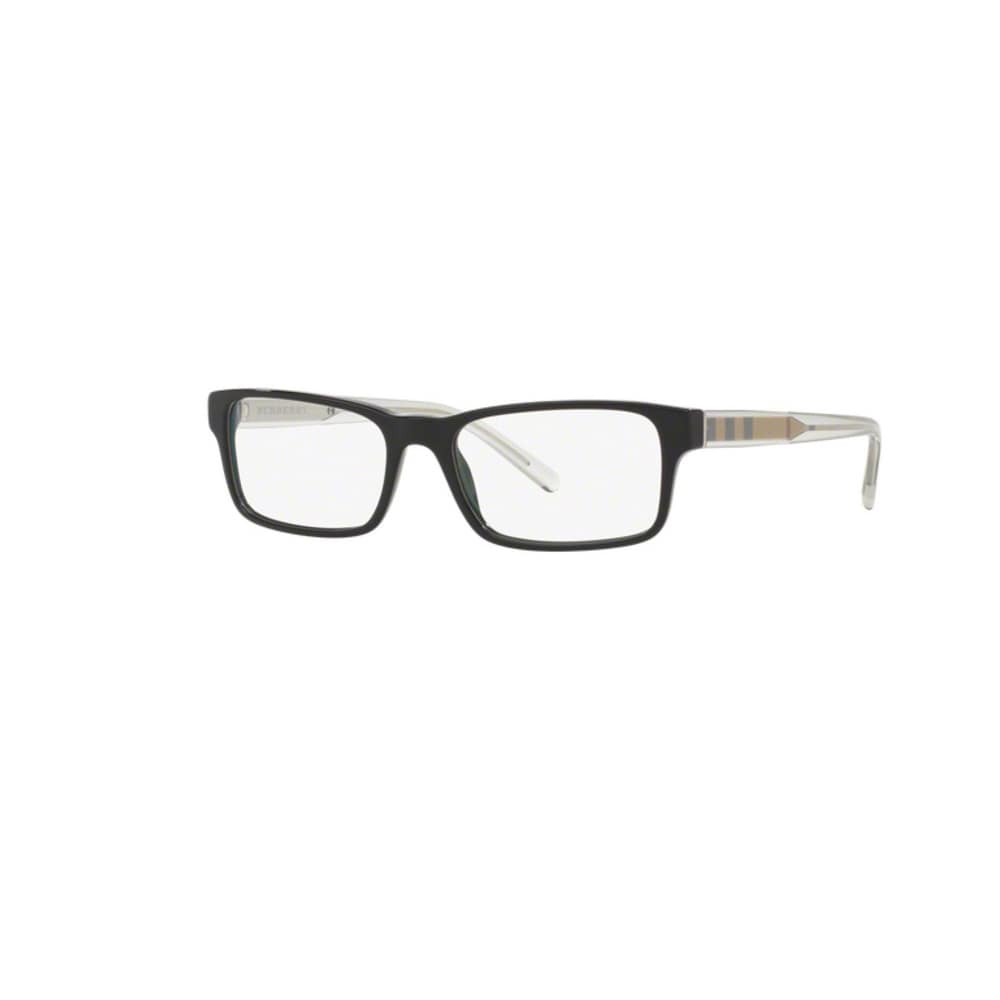 23c9230322b Shop burberry be black plastic rectangle eyeglasses lens free shipping today  jpg 1000x1000 Burberry black plastic