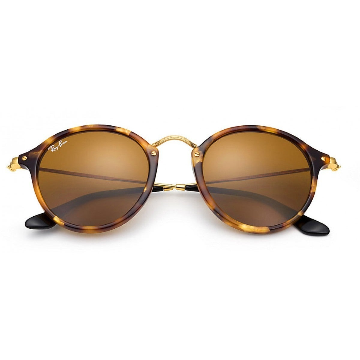 02993433aa Shop Ray-Ban RB2447 1160 Men s Round Fleck Tortoise Gold Frame Brown  Classic 49-millimeter Lens Sunglasses - Free Shipping Today - Overstock -  12392779