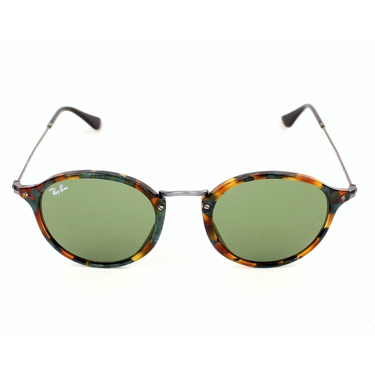 42f13472bac Shop Ray-Ban RB2447 11594E Round Fleck Tortoise Gunmetal Frame Green  Classic 49mm Lens Sunglasses - Free Shipping Today - Overstock - 12392807