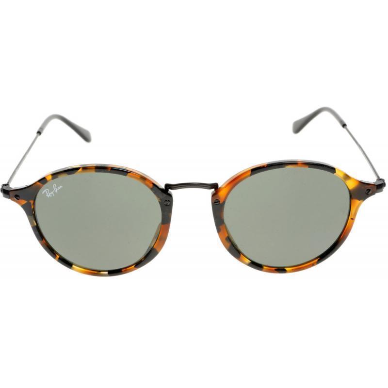 8517e3c3f8 Shop Ray-Ban RB2447 1157 Round Fleck Tortoise Black Frame Green Classic  Lenses 49-millimeter Sunglasses - Free Shipping Today - Overstock - 12392823
