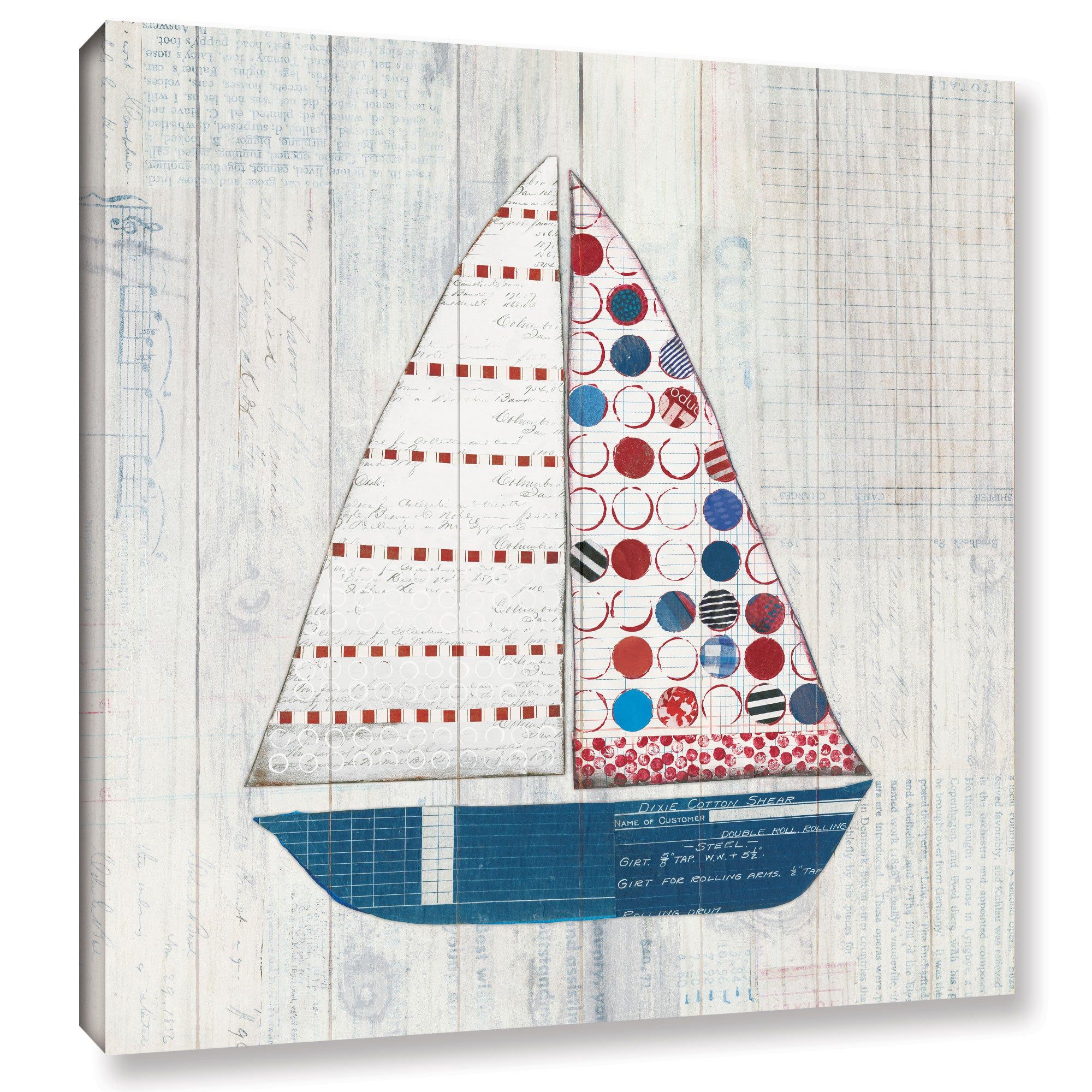 Courtney Prahl's 'Wind and Waves I Nautical' Gallery Wrapped Canvas