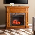 Harper Blvd Newman Simulated Stone Media Center Infrared Electric Fireplace