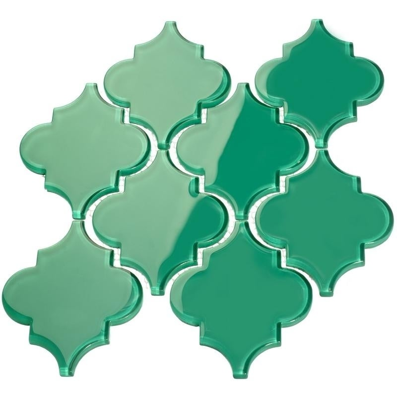 Arabesque Emerald Green Tiles 7 Square Feet 11 Sheets On Free Shipping Orders Over 45 12396657