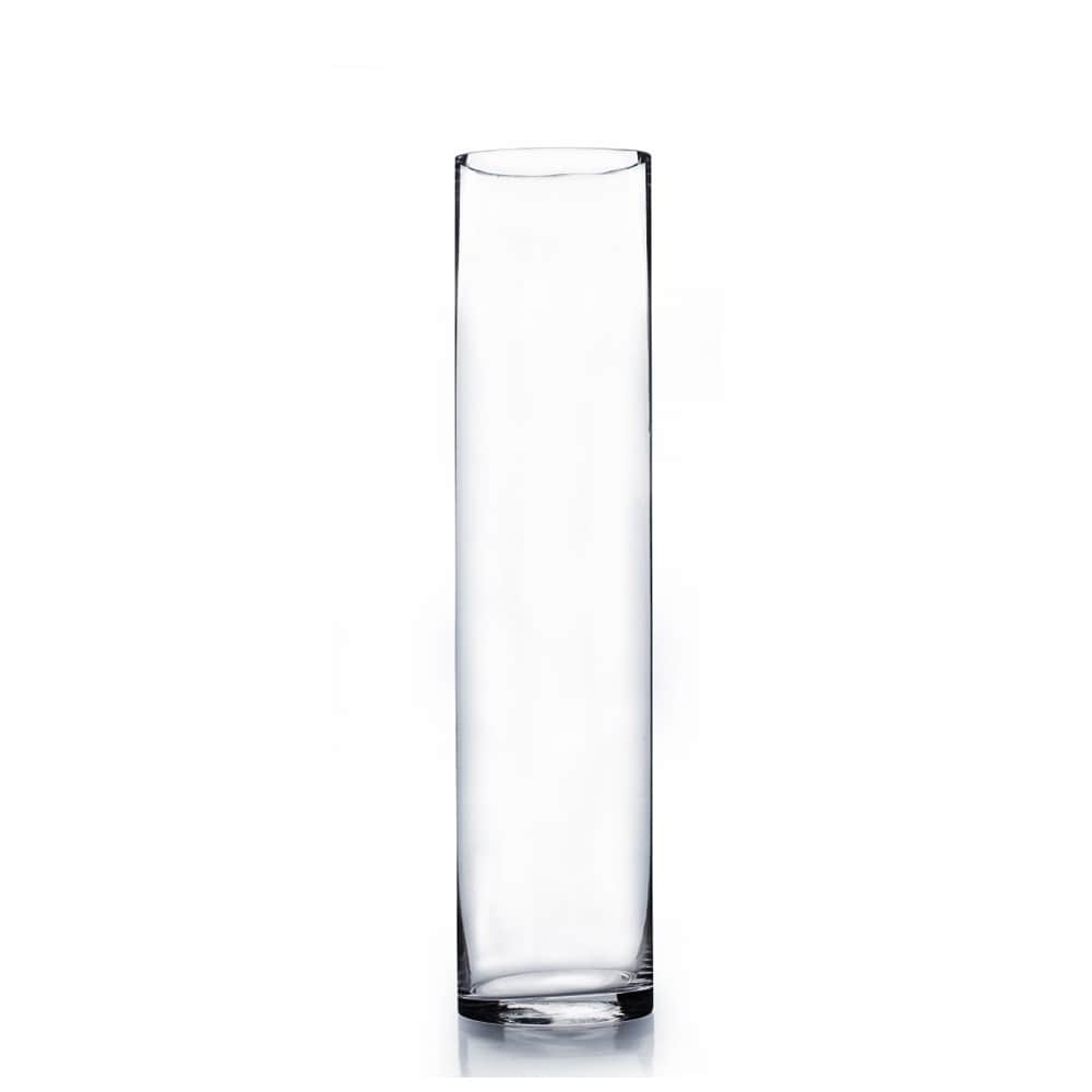 glass product x cylinder vase round clear