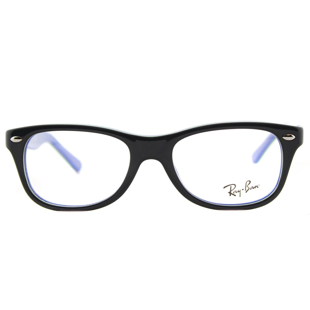 4e634b5682 Shop Ray-Ban Junior Dark Grey on Blue Plastic Rectangle Eyeglasses - Free  Shipping Today - Overstock - 12407372