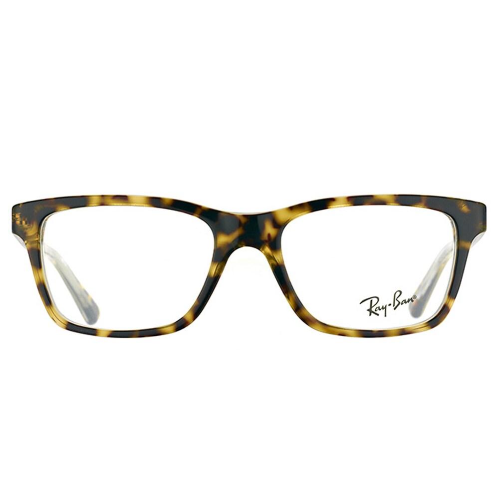 c57a8c8d1d Shop Ray-Ban Junior RY 1536 3602 Dark Havana on Transparent Plastic 48-millimeter  Rectangle Eyeglasses - Free Shipping Today - Overstock - 12407404