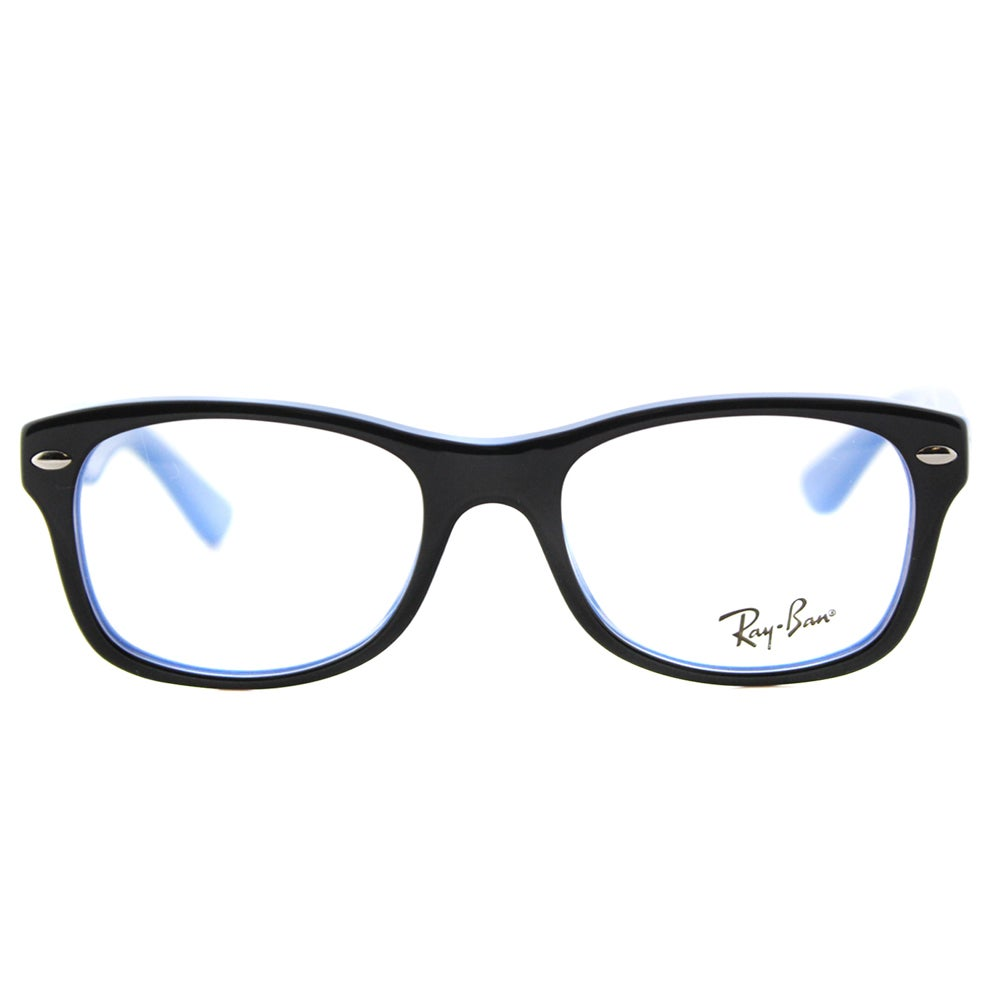 2f3d8d6816 Shop Ray-Ban Junior RY 1528 3659 Black on Azure Blue Plastic 48-millimeter  Rectangle Eyeglasses - Free Shipping Today - Overstock.com - 12407428