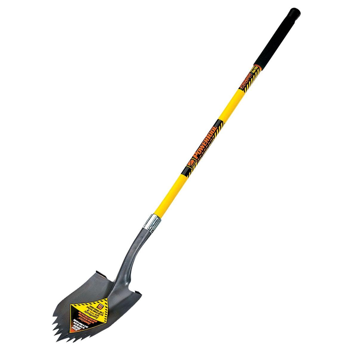seymour-structron s710 49630 48-inch long fiberglass handle notched round  pt super shovel