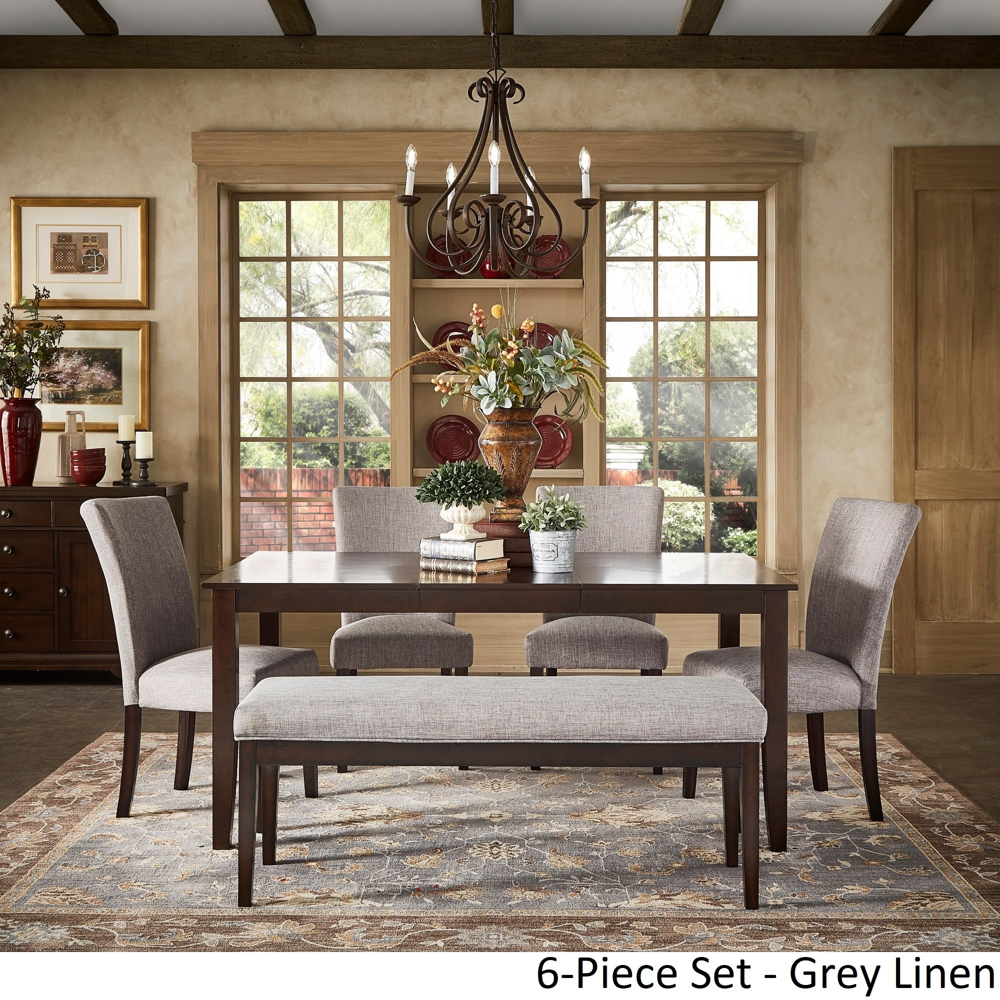 Shop Pranzo Rectangular 66 Inch Extending Dining Table Set By