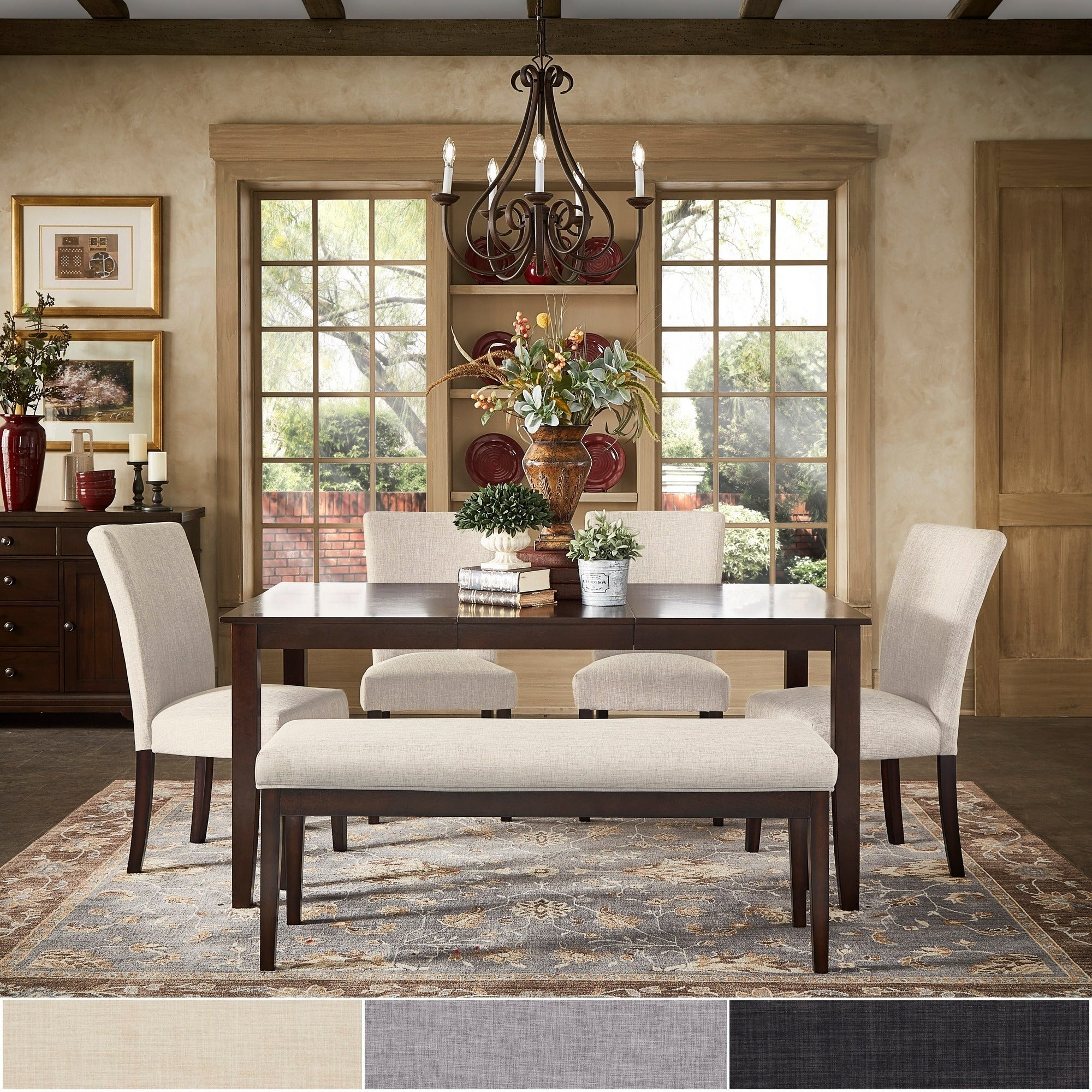 Shop pranzo rectangular 66 inch extending dining table set by inspire q classic free shipping today overstock com 12408618