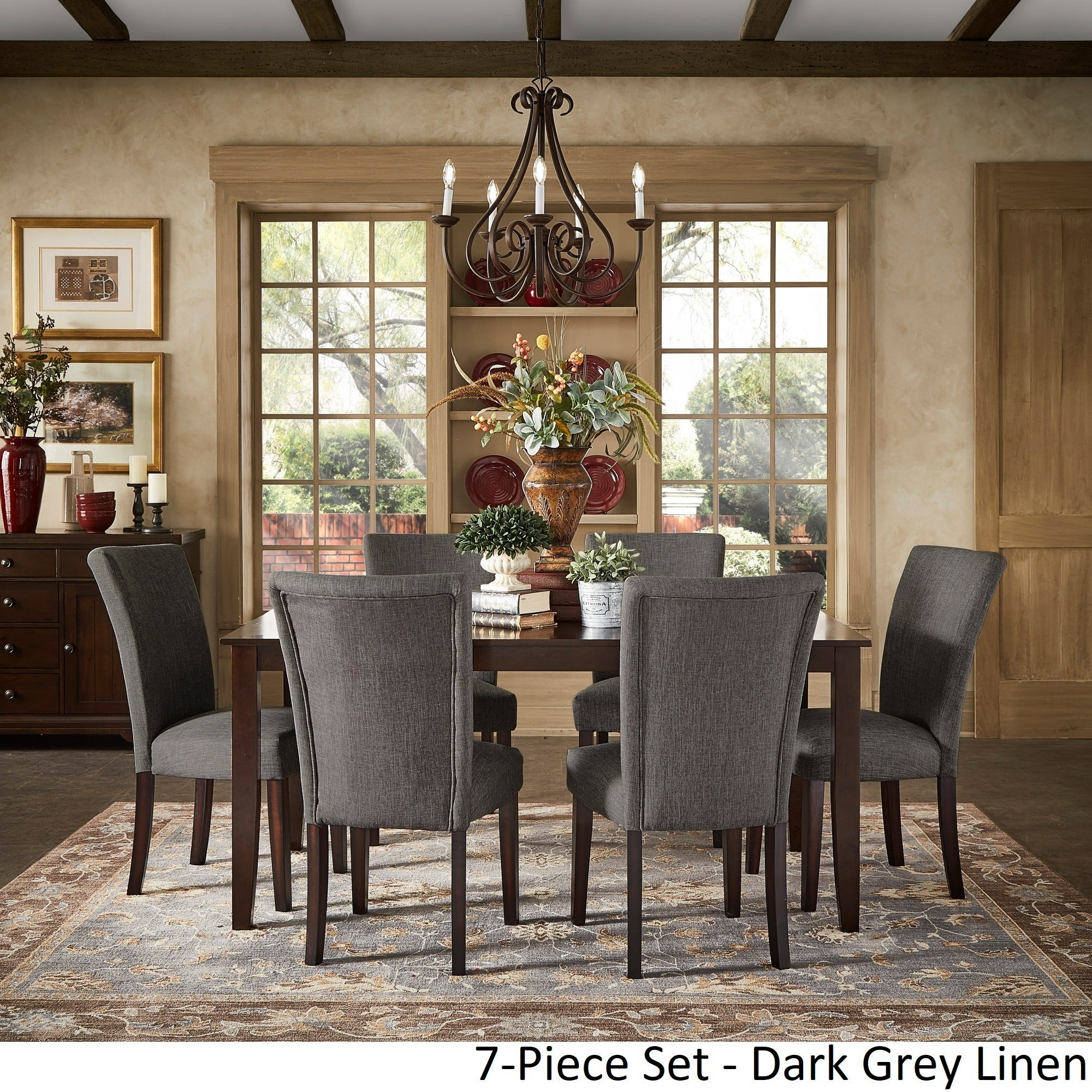Shop Pranzo Rectangular 66-inch Extending Dining Table Set by ...