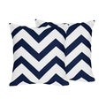 Sweet Jojo Designs Navy Blue and White Chevron Decorative Accent Throw Pillow (Set of 2)
