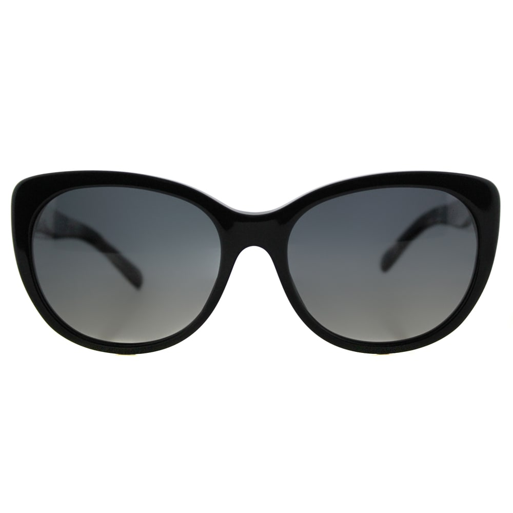80fedc07abb Shop Burberry BE 4224 3001T3 Black Plastic Cat-Eye Grey Gradient Polarized  Lens Sunglasses - Free Shipping Today - Overstock - 12410513