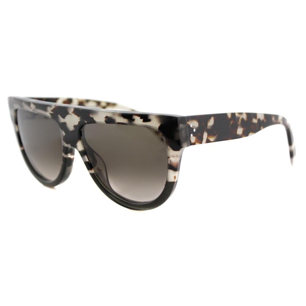 6bc4e11c268a Celine CL 41026 VNO Shadow Havana Grey Plastic Fashion Grey Gradient Lens  Sunglasses