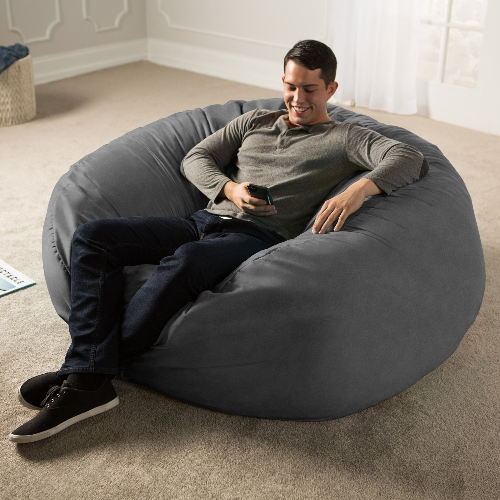 Jaxx 5 ft Giant Bean Bag Chair Free Shipping Today Overstock