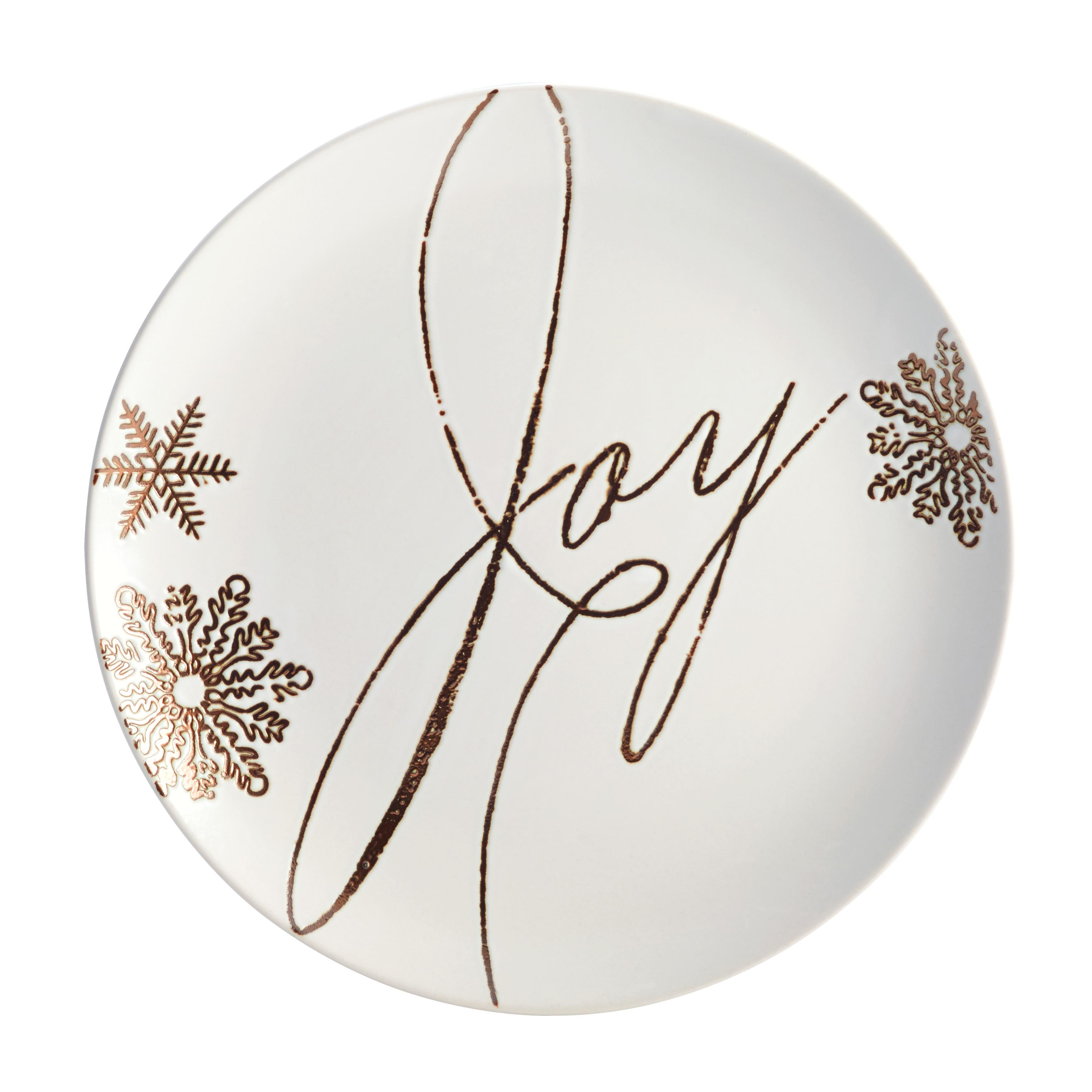 Paula Deen(r) Dinnerware Stoneware Holiday Salad/Dessert Plate Set 4-Piece Winter Charm Pattern Cream - Free Shipping On Orders Over $45 - Overstock - ...  sc 1 st  Overstock.com & Paula Deen(r) Dinnerware Stoneware Holiday Salad/Dessert Plate Set ...