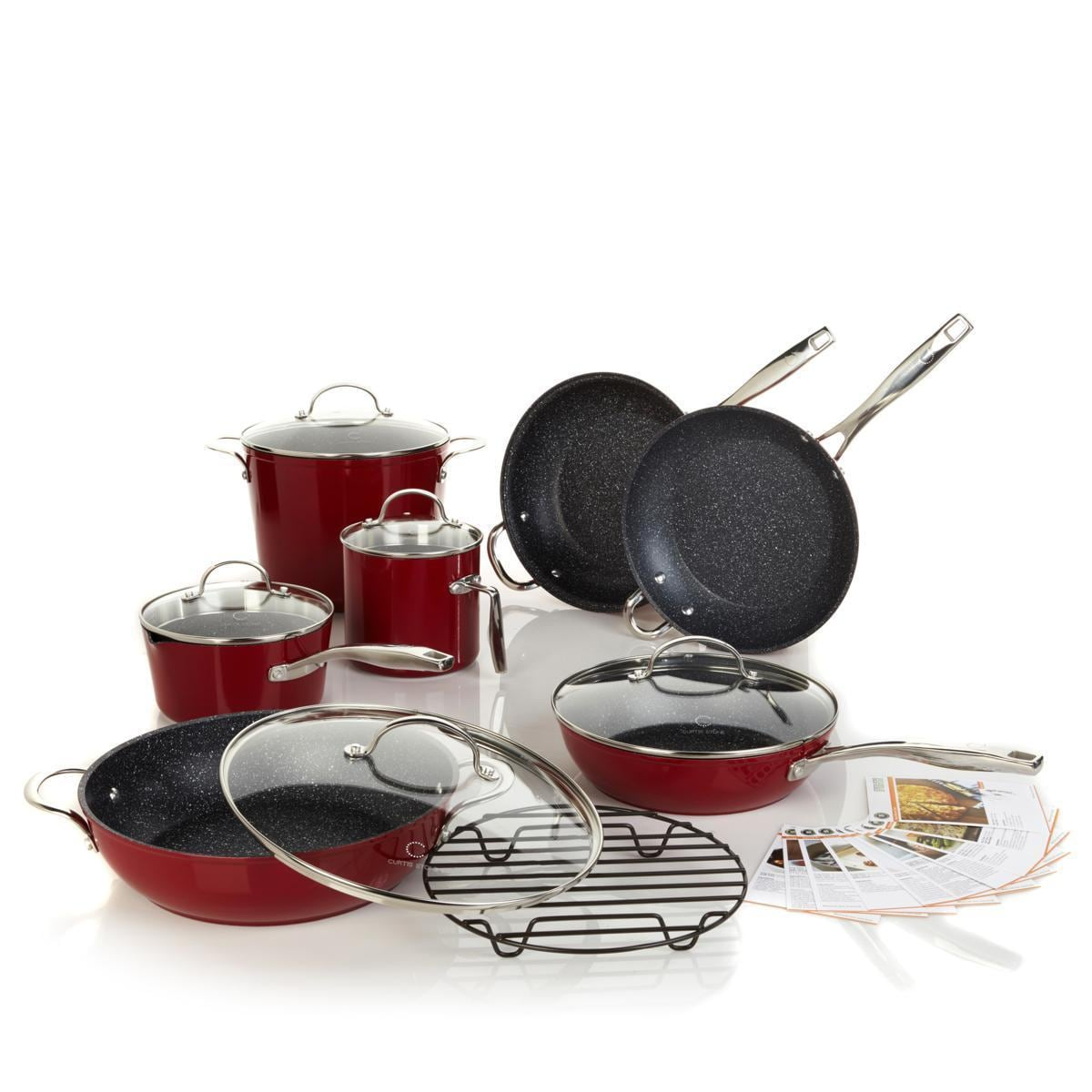 Curtis Stone DuraPan Nonstick 13-piece Chef\'s Cookware Set - Free ...