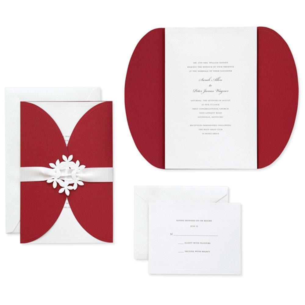 Shop Brides Print-at-Home Red Jacket Invitation Kit (40 Count ...