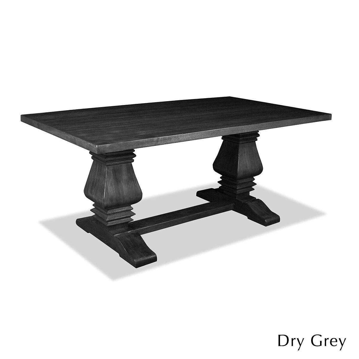 Shop Toscana Reclaimed Wood Rectangular Dining Table Free Shipping - Black wood rectangular dining table