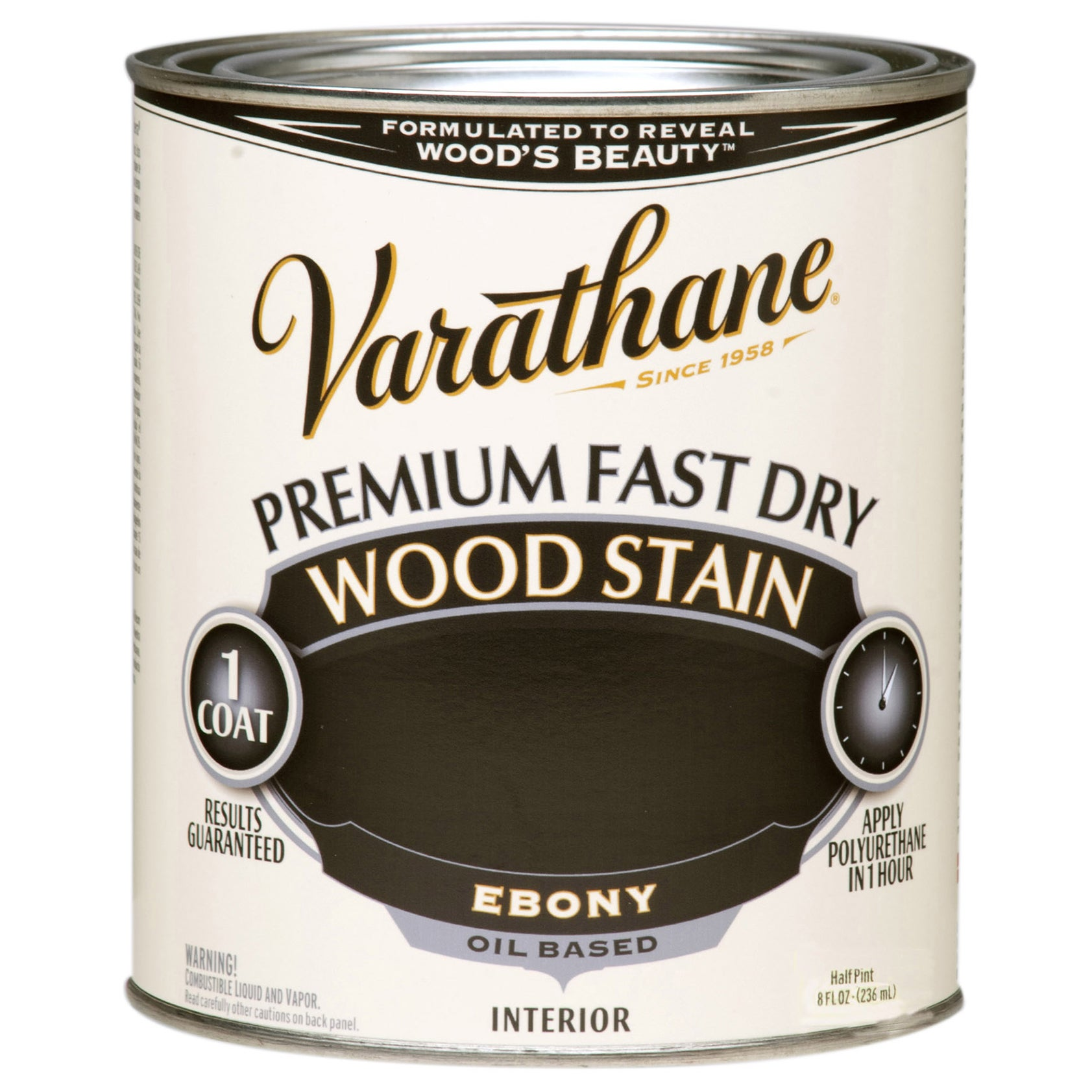 Shop Varathane 269400 1/2 Pint Ebony Fast Dry Wood Stain   Free Shipping On  Orders Over $45   Overstock.com   12426362