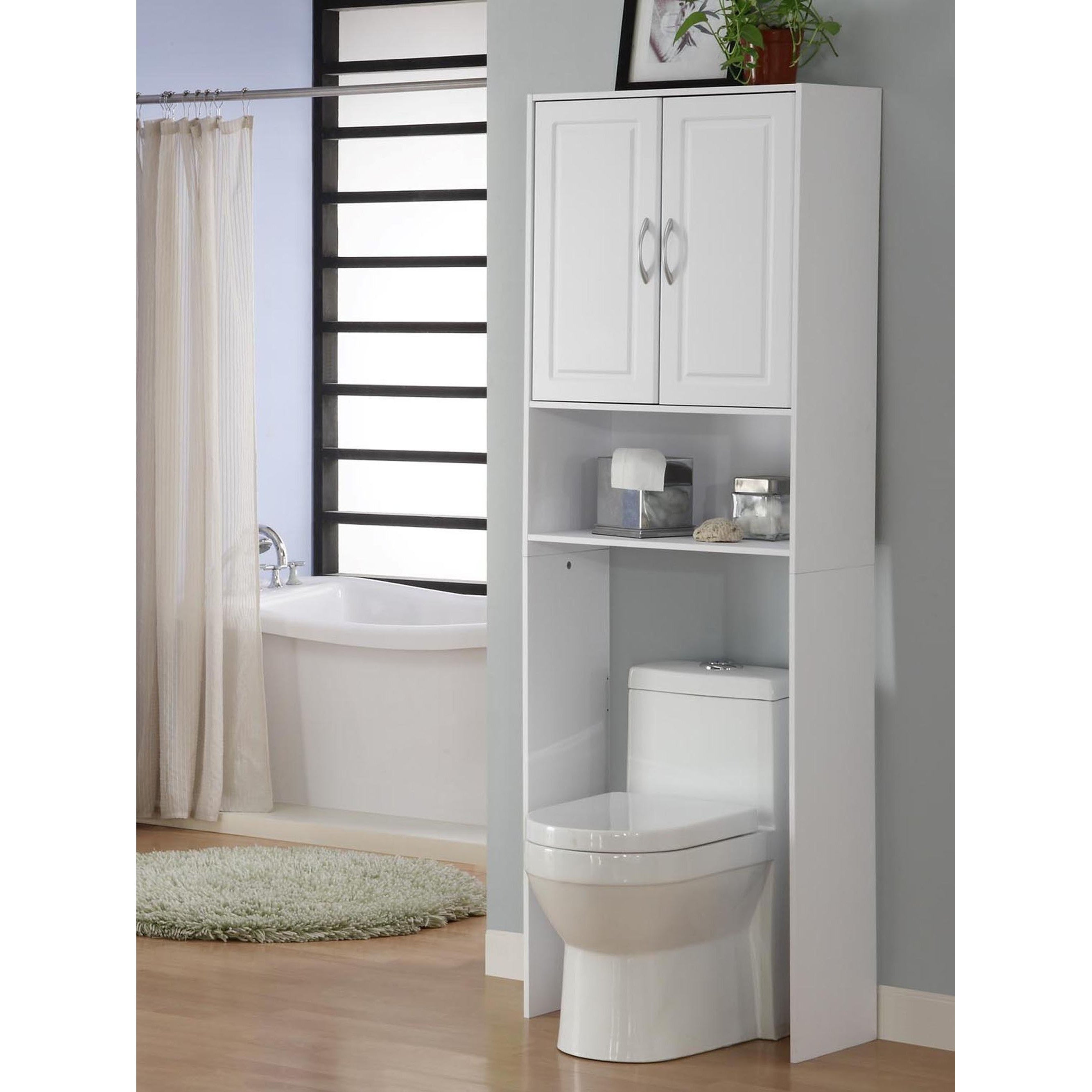 White Double Door Spacesaver Cabinet - Free Shipping Today ...